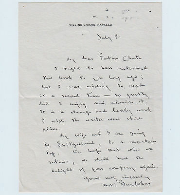 SIR MAX BEERBOHM, writer, caricaturist, fine Autograph Letter Signed
