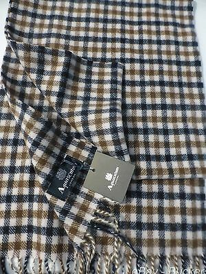 Genuine Aquascutum Checked Scarf 100% Lambswool Brand New With Tags RRP £59.99