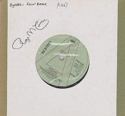 The Byrds- Goin' Back -  7 INCH 45 RPM - CBS