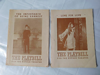 1947 The Importance of Being Earnest & Love for Love The Playbill Royale Theatre