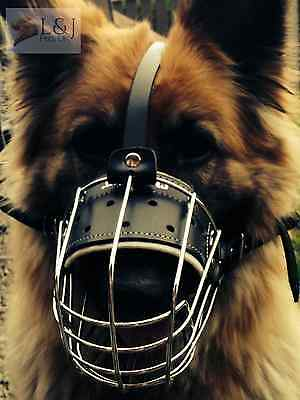 New Strong Metal Wire Basket Dog Muzzle for German Shepherd Labrador and Other