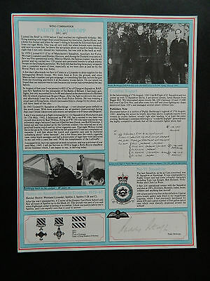 Battle Of Britain Signed Military Gallery Fighter Pilot Profile Paddy Barthropp