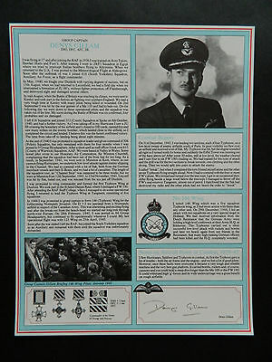 Battle Of Britain Signed Military Gallery Fighter Pilot Profile Denys Gillam