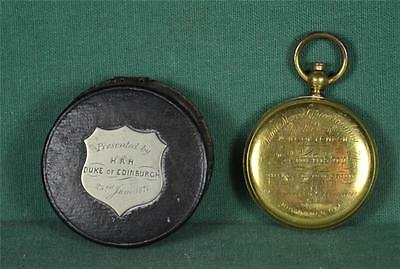 Rare Victorian Royal Presentation Compass From Duke Of Edinburgh 1871