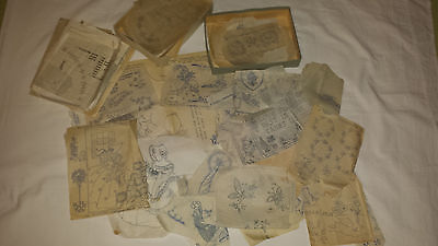 Vintage Collection of Embroidery Transfer Patterns Pieces