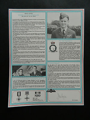Battle Of Britain Signed Military Gallery Fighter Pilot Profile John Cunningham