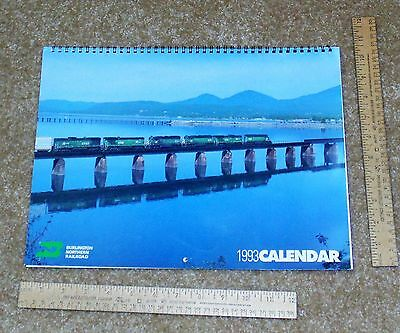 1993 BURLINGTON NORTHERN RAILROAD Calendar - used - Wall CALENDAR