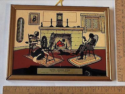 no. two - 1952 SILHOUETTE THERMOMETER CALENDAR - HOTEL CLARKS FORK - BRIDGER, MT