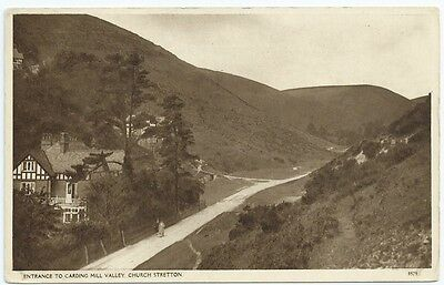 Vintage Postcard.  Entrance To Carding Mill Valley, CHURCH STRETTON.  Ref:6-58