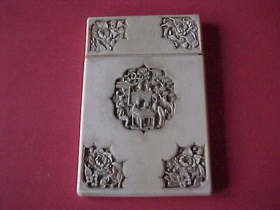 SUPER , 19thC CHINESE HAND CARVED LARGE  CARD CASE
