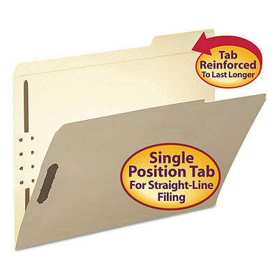Smead Folder, Two Fasteners, 1/3 Cut Third Position, Top Tab, Letter, Manila...