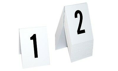 Plastic Catering Markers 1-20 Tent Style, White w/ black number, Free shipping