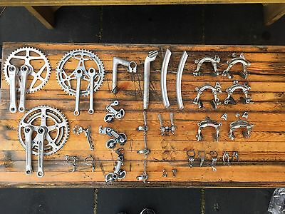 Vintage Dura Ace Campagnolo Shimano job lot classic bike parts components