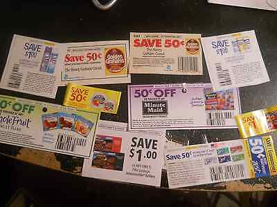 Manufacturer grocery Coupons mixed Huge lot No Exp +2017