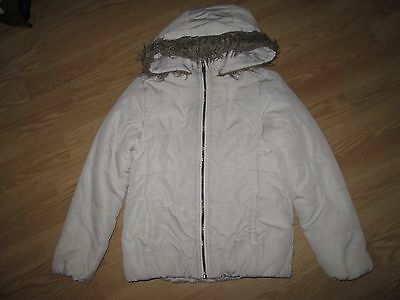 girls cream coat by F&F age 8-9 years autumn/winter clothes