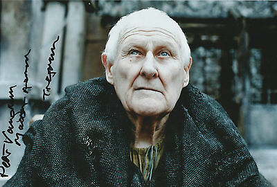 Peter Vaughan Signed Photo 12x8'' Game of Thrones Maester Aemon