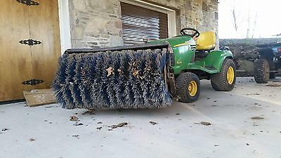 """Sweepster 48"""" Hydraulic Lift & Angle Brush Front Tractor Mounted Snow or Stone"""