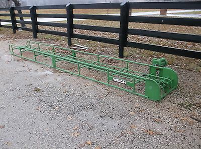 USED 16 FT SQUARE HAY BALE ELEVATOR WITH GOOD ELECTRIC  MOTOR *We Ship Cheap*