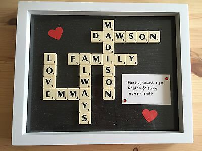 Personalised Scrabble Style Art Gift **UP TO 6 WORDS**