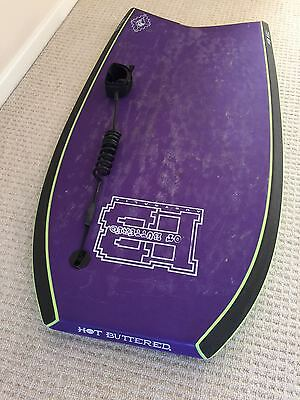 """Hot Buttered 43"""" Bodyboard inc leash and carrier"""