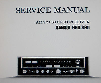 Sansui  890 990 Stereo Receiver Service Manual Inc Schems Printed Bound English