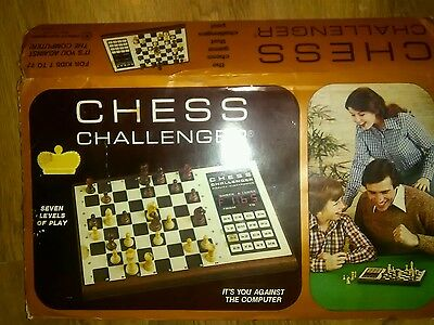 vintage chess challenger electronic game by fidelity electronics