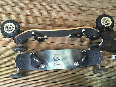 Two Mountain Boards - One Mbs & One Exit Board. Good Used Condition - Ideal Xmas