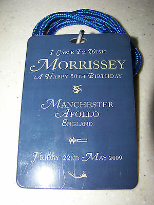 Morrissey 50th Birthday at Manchester Apollo collectable Lanyard