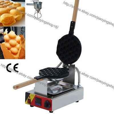 Nonstick Electric Rotating Digital Eggette Egg Waffle Maker Baker w/ Dispenser