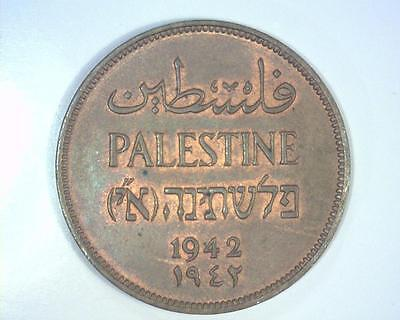 Palestine 1942 Two Mils Km2  About Uncirculated  ~ 1005826.re
