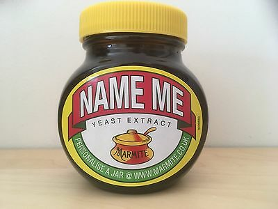 Collectable New Sealed Marmite 'NAME ME' Promotional Jar