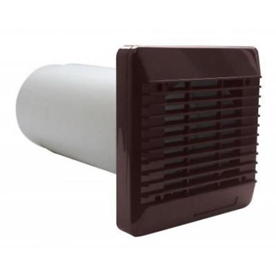 Vent Axia 254100 Wall Duct & Grille Vent Kit 100mm / 4 Inch (Brown)