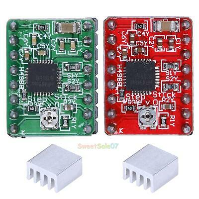 2Pcs A4988 Stepper MotorDriver Module 3DPrinter Polulu StepStick For Reprap Prus