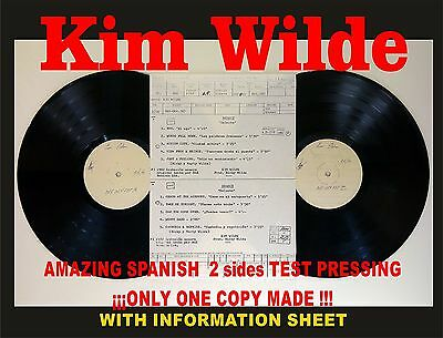 Kim Wilde - Select Amazing Spanish Test Pressing. Only 1 copy made!