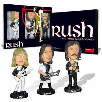 Xmas Gift Rush Bobblehead Dolls Collectible Set Alex Geddy and Neil Hot Product