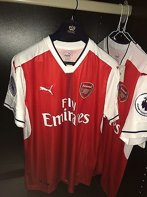 Arsenal Fc Signed Alexis Sanchez Season 16/17 Home Football Shirt Bnwt Authentic