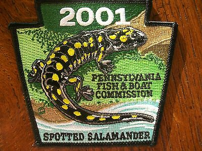 Pennsylvania Pa Fish Commission  Patch 2001 Spotted Salamander