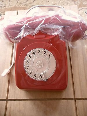 NEW BT 8746 Dial Telephone - Red