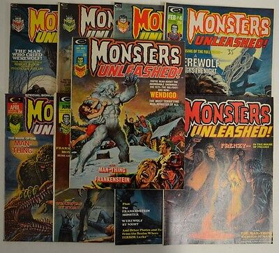 Marvel/Curtis Monsters Unleashed Complete Run 1-9 1,2,3,4,5,6,7,8,9 Comics L278