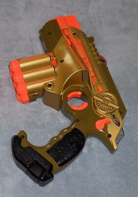 Nerf Tiger Electronics Phoenix LTX Lazer Tag Tagger Gold Gun Cleaned & Tested VG