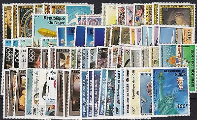 Niger 77 timbres PA entre n° 249 et 353  , neuf ** , TB , cote 187  euros