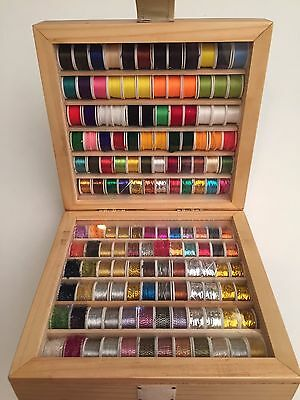 Fly Tying Threads 144 Spools, Fly tying materials, Floss Tinsel Copper Wire