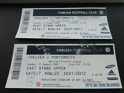 Chelsea v Portsmouth (Pair of tickets) 17th August 2008.