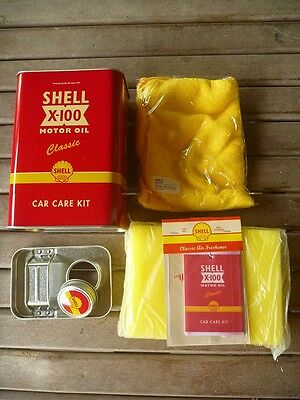 Shell Gas Red Retro Tin Celebrating 125th Years Shell Malaysia - Car Care Kit