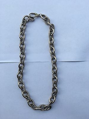 Carolyn Pollack Sterling Silver 925 Oval Rope Link Chain Designer Necklace 116G