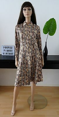 Robe vintage 60's CREATIONS IMPEKA LUXE taille 42(vtg dress abito kleid vestido)