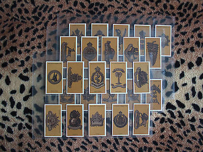 Cigarette Card : John Player : Colonial & Indian Army Badges (1917) : Full Set