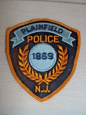 Plainfield New Jersey Police Department Embroidered Patch - Used