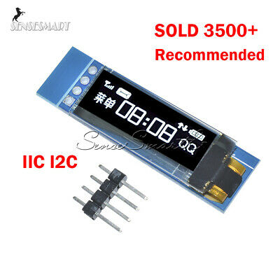 "0.91"" IIC I2C SPI128x32 White OLED LCD Display Module For Arduino PIC"