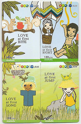 Thailand used Love at First Phonecard Complete Set